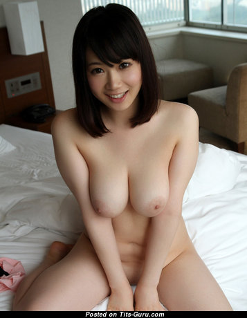 Hibiki Hoshino - Adorable Topless Asian Babe with Adorable Exposed Natural Mid Size Busts (Xxx Photo)
