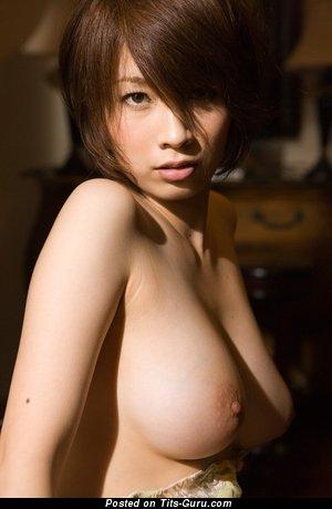 Image. Naked asian with big natural breast photo