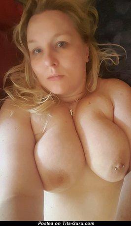 Sandra Balawni - Grand Blonde with Grand Bare Natural Very Big Titties, Huge Nipples, Piercing (on Public Selfie Hd Xxx Pix)
