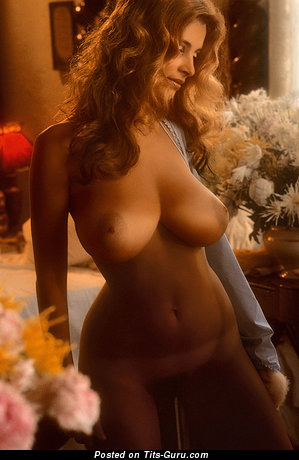 Janet Lupo - Pretty American Playboy Red Hair with Pretty Nude Natural Full Knockers (Vintage Xxx Wallpaper)