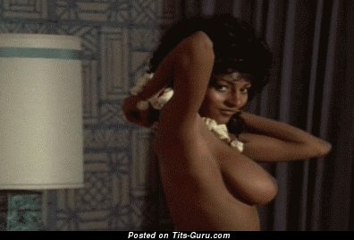 Pam Grier Sexy Nude Ebony With Medium Natural Tits Vintage Gif