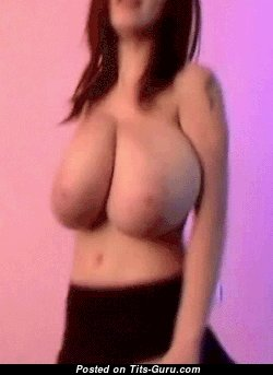 Anya Zenkova - Appealing Topless Chick Jiggly Awesome Nude Natural G Size Chest (Sex Gif)