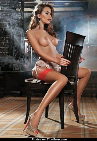 Image. Жанна Рассказова - brunette with medium boobies picture