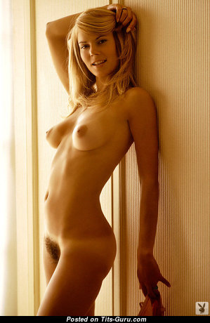 Kristine Hansen - Superb Playboy Blonde Actress with Superb Nude Real Meager Tit (Vintage Xxx Photo)