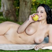 Amazing woman with big natural boobies photo