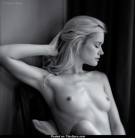 Gorgeous Topless Blonde with Gorgeous Nude Natural Short Tits & Pointy Nipples (Hd Xxx Picture)