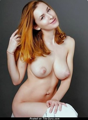 Sexy nude red hair with big boobies pic