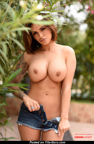 Gemma Massey - The Best British Playboy Red Hair Pornstar & Babe with The Best Bare Round Fake Mega Breasts, Huge Nipples, Tattoo is Undressing (Hd 18+ Pic)