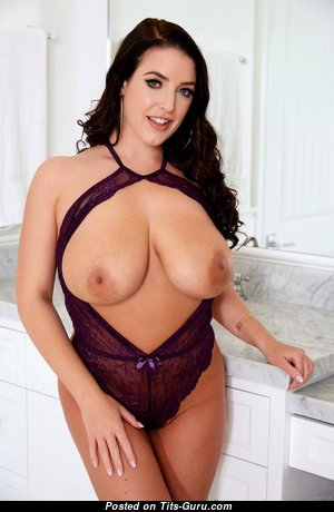 Angela White - Pretty Topless Australian Brunette Pornstar & Babe with Pretty Defenseless Natural Sizable Busts (Hd 18+ Photoshoot)