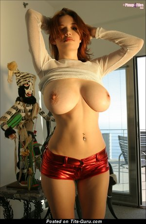 Danielle Riley - Elegant British Red Hair with Elegant Nude Real Very Big Breasts (Hd 18+ Image)