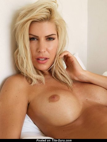 Topless blonde pic