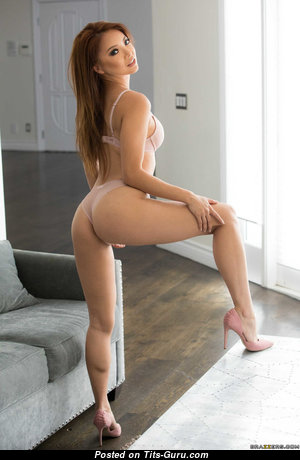 Ayumi Anime - Amazing Non-Nude Asian Red Hair Babe, Pornstar & Actress with Amazing Dd Size Tits & Puffy Nipples in Bikini & Lingerie is Doing Yoga (18+ Foto)