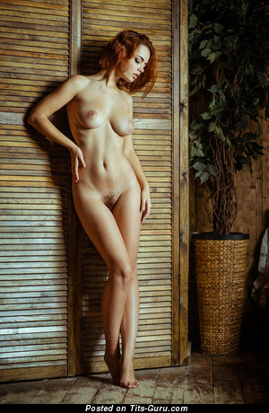 Image. Naked awesome girl with medium natural tits pic
