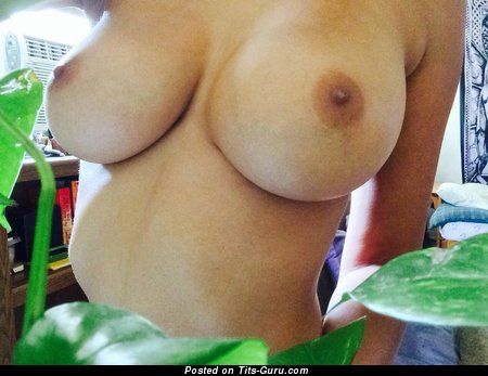 Image. Naked beautiful woman with big natural boobs photo
