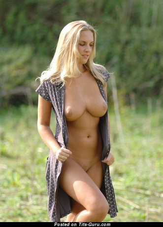 Image. Naked wonderful female with natural breast image