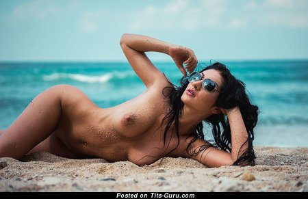 Image. Naked wonderful female with medium natural tittys picture