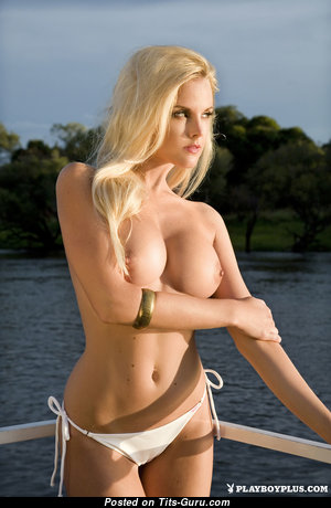 Jade Fairbrother - Amazing South African Playboy Blonde Babe with Amazing Exposed Round Fake Breasts in Bikini (Hd Porn Pix)