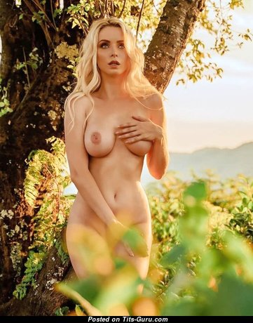 Magnificent Babe with Magnificent Naked Real Breasts (Sexual Photoshoot)