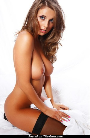 Image. Elle Basey - beautiful woman with medium natural boobs image