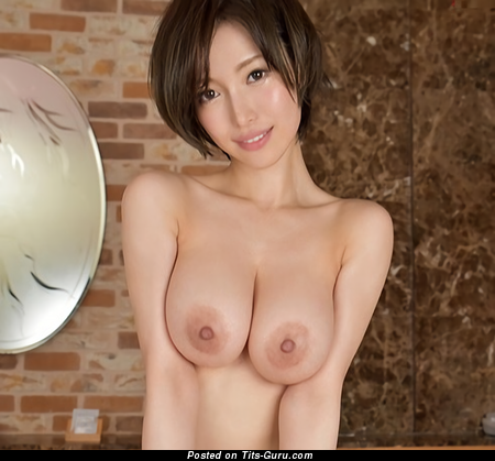 Mio Kimishima - Handsome Topless Asian Brunette Pornstar with Cute Exposed Real Med Tots & Giant Nipples is Undressing (Hd Porn Pix)