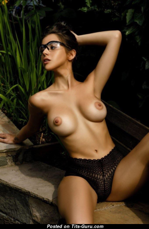 Holly James - Graceful Topless British Brunette with Graceful Open Medium Melons (Sex Wallpaper)