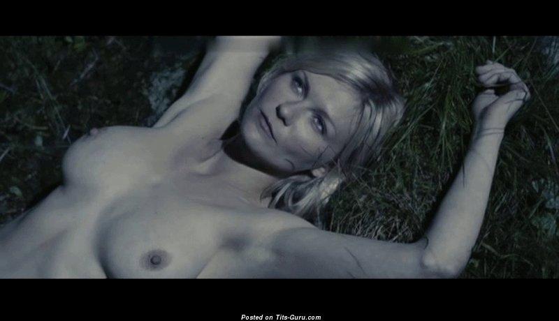 Изображение. Kirsten Dunst - gif сексуальной раздетой блондинки с среднего размера натуральной грудью