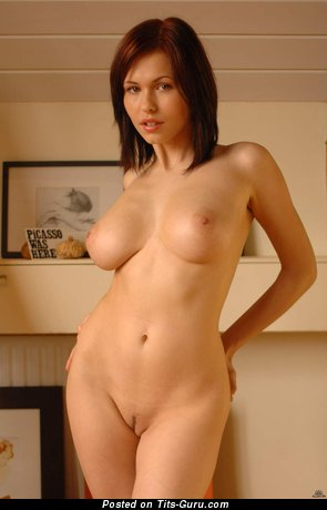 Image. Naked nice female with natural boob pic
