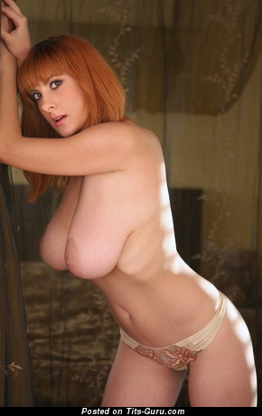 Image. Valory Irene - naked red hair with big natural boobs photo