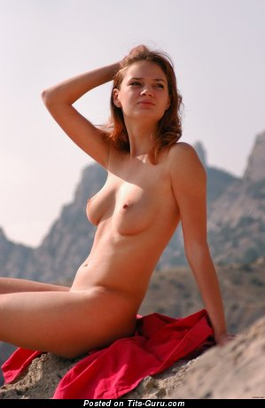 Image. Beautiful girl with natural breast image
