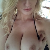 Blonde with big natural tittes photo