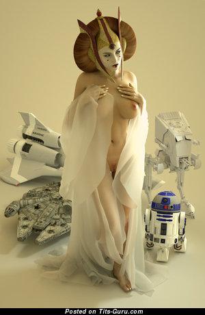 Изображение. Картинка красивой раздетой девушки с большой натуральной грудью