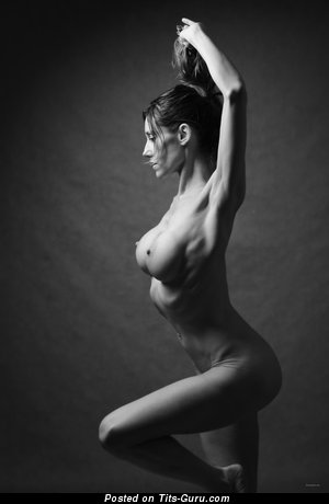 Image. Naked hot woman with medium fake tits image