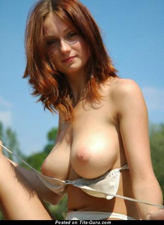 Pretty Babe with Pretty Defenseless Natural Dd Size Tots (Xxx Pic)