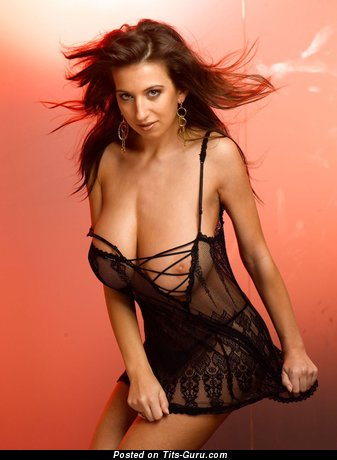 Image. Maria Swan - nude brunette with huge natural tots pic