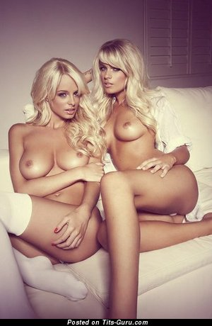 Image. Nude blonde with big natural boobies picture