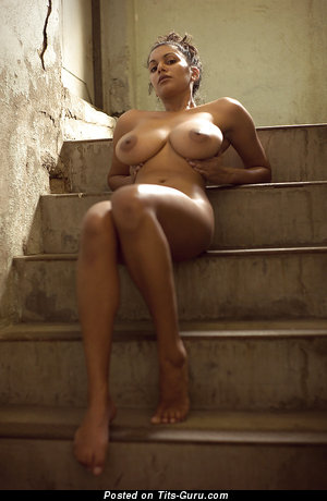 Naked latina with big natural boobs image