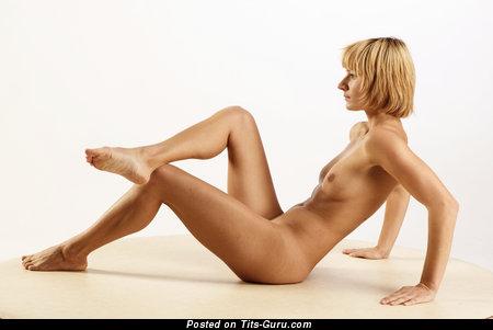 Image. Viola - blonde with small natural boob photo