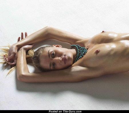 Image. Nude hot female with medium natural boob photo
