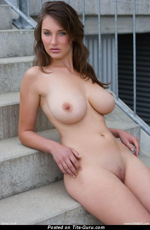 Ashley Spring - Delightful German Brunette with Delightful Naked Natural Mega Knockers (Hd Sexual Picture)