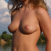 Wonderful female with medium natural boobs image