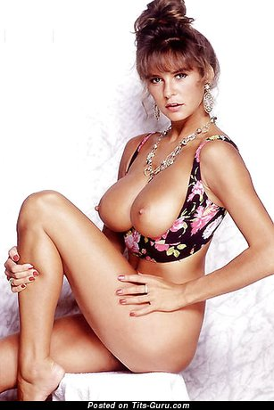 Image. Donna Ewin - sexy naked brunette with medium tots and big nipples vintage