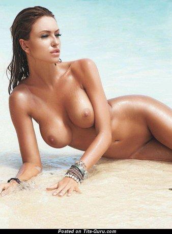 Monika Pietrasinska - naked brunette with big tits photo
