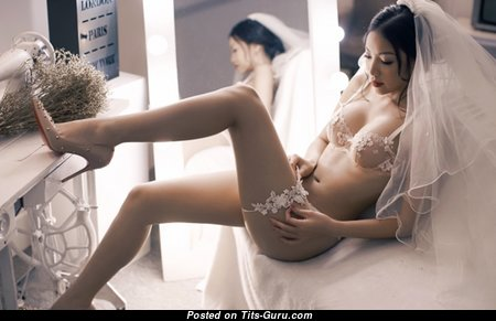 Good-Looking Non-Nude Asian Brunette Bride & Babe (Hd 18+ Wallpaper)