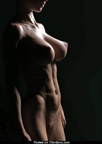 Развратница с шикарным оголённым натуральным бюстом и большими ореолами (hd интимная фотография)