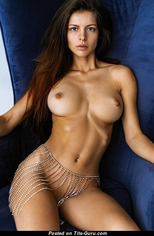 Alluring Topless Babe with Long Nipples (Sex Wallpaper)