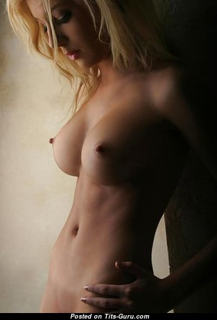 Sweet Glamour Lady with Sweet Bare Real Firm Tittes & Erect Nipples (18+ Image)