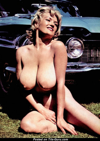 Paula Page - Marvelous British Blonde with Marvelous Nude Natural Big Titties (Vintage Sex Pic)