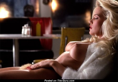 Barbara Moore - Amazing American Playboy Blonde Actress with Amazing Defenseless Real Tit (Porn Photo)
