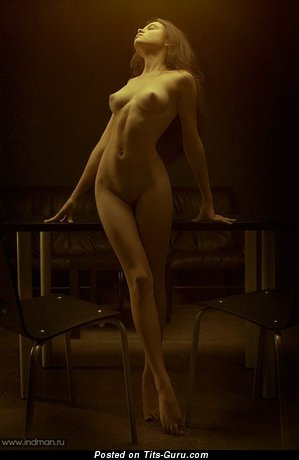 Image. Nude wonderful lady with medium natural boob picture