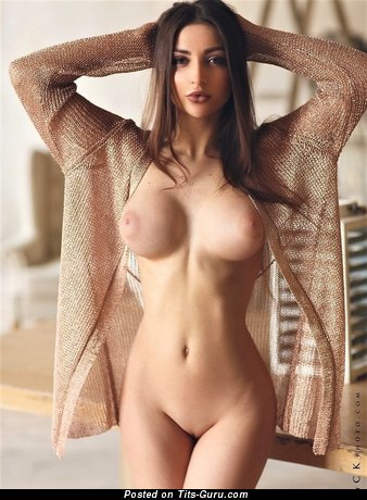 Alluring Babe with Alluring Exposed Med Tits (Porn Image)